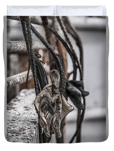 Ropes And Gloves Duvet Cover by Amber Kresge