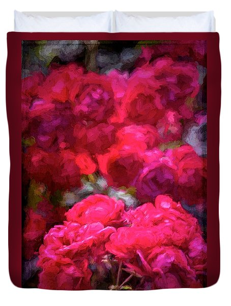 Duvet Cover featuring the photograph Rose 134 by Pamela Cooper