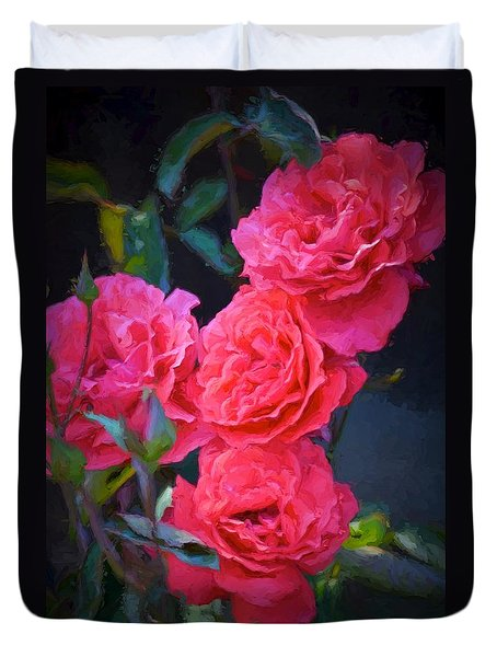 Duvet Cover featuring the photograph Rose 138 by Pamela Cooper