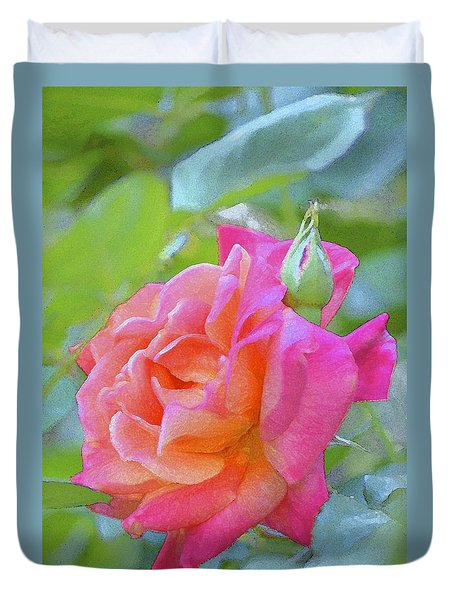 Duvet Cover featuring the photograph Rose 178 by Pamela Cooper