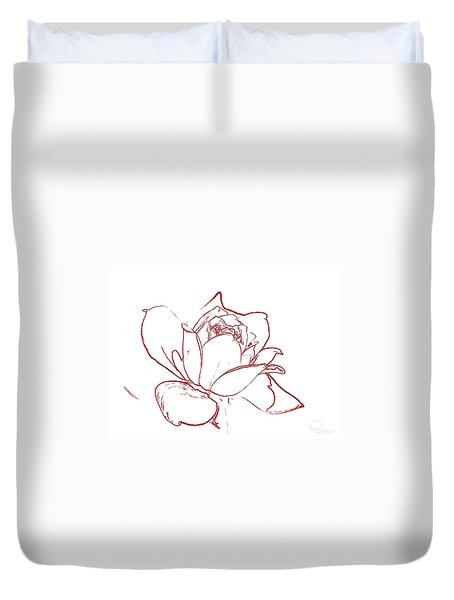 Rose 2 Duvet Cover by Ludwig Keck