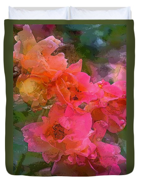 Duvet Cover featuring the photograph Rose 219 by Pamela Cooper