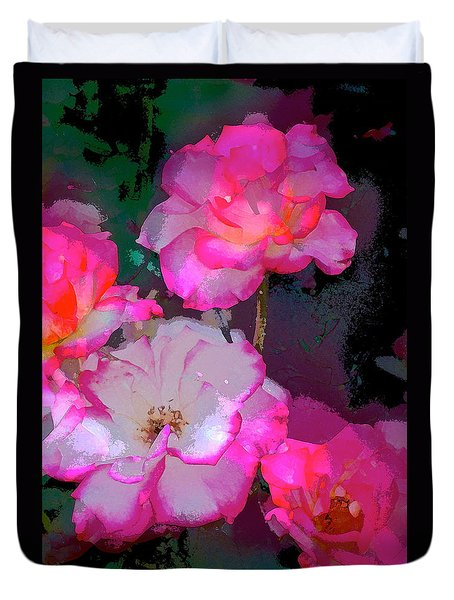 Duvet Cover featuring the photograph Rose 223 by Pamela Cooper