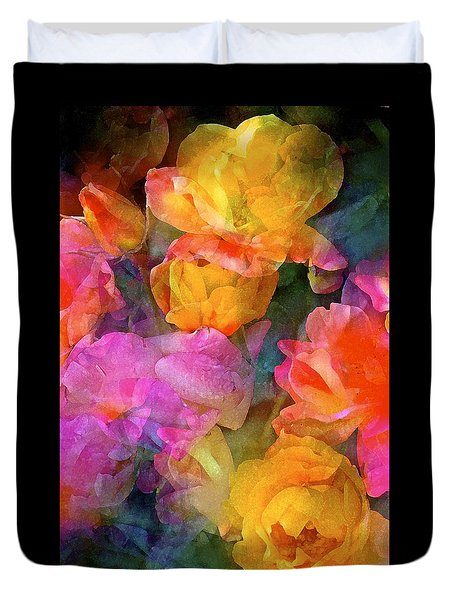 Duvet Cover featuring the photograph Rose 224 by Pamela Cooper