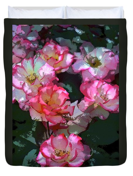 Duvet Cover featuring the photograph Rose 226 by Pamela Cooper