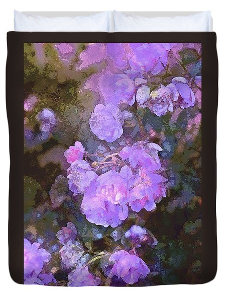 Duvet Cover featuring the photograph Rose 238 by Pamela Cooper