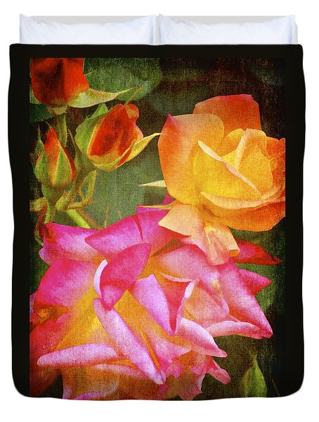 Duvet Cover featuring the photograph Rose 266 by Pamela Cooper