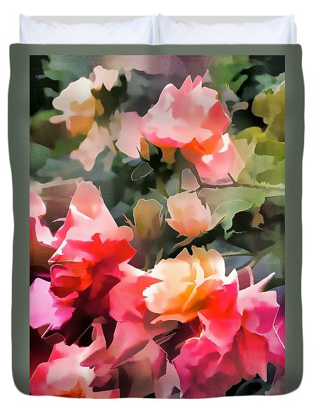 Duvet Cover featuring the photograph Rose 274 by Pamela Cooper