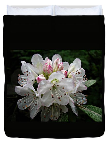Rose Bay Rhododendron Duvet Cover