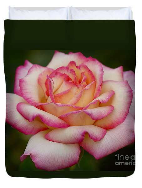 Duvet Cover featuring the photograph Rose Beauty by Debby Pueschel