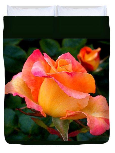 Rose Beauty Duvet Cover by Rona Black