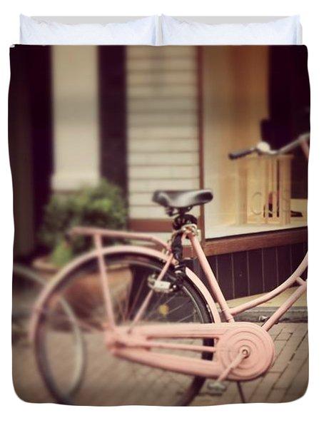 Rose Bike Duvet Cover by Mary-Lee Sanders