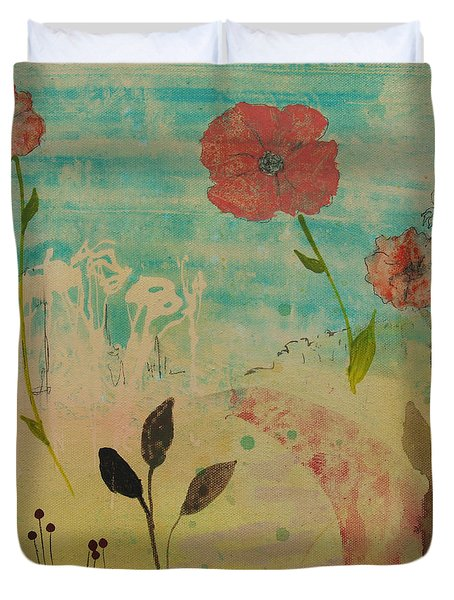 Rose Colored Path Duvet Cover by Robin Maria Pedrero
