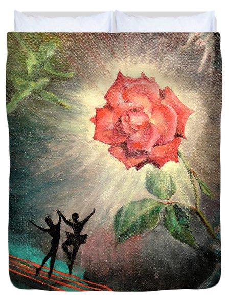 Rose Concerto  1941 Duvet Cover