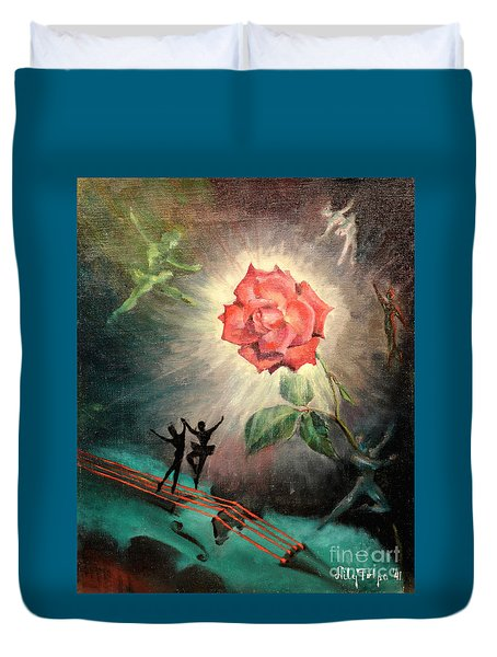 Rose Concerto  1941 Duvet Cover