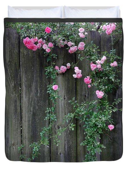 Rose Fence Duvet Cover by Deborah  Crew-Johnson
