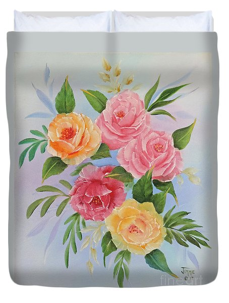 Rose Gathering Duvet Cover by Jimmie Bartlett