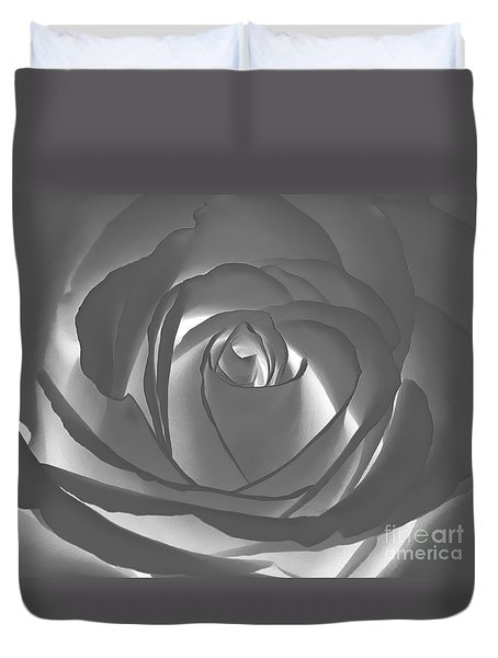 Duvet Cover featuring the photograph Rose by Geraldine DeBoer