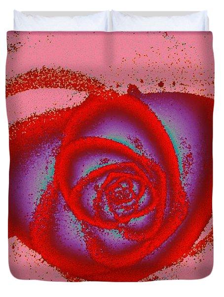 Rose Heart Duvet Cover by Anastasiya Malakhova