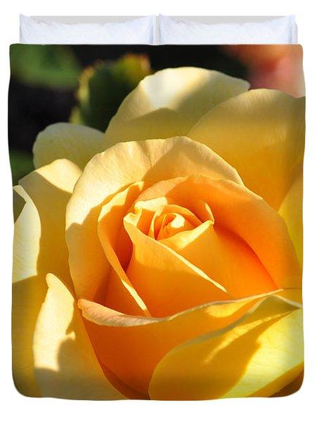 Rose - Honey Bouquet Duvet Cover by Sabine Edrissi