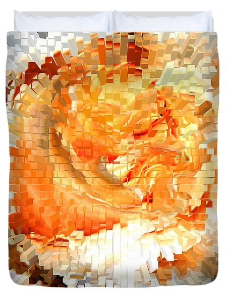 Rose In Bloom Duvet Cover by Alys Caviness-Gober