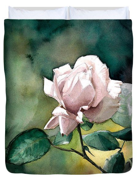 Watercolor Of A Lilac Rose  Duvet Cover