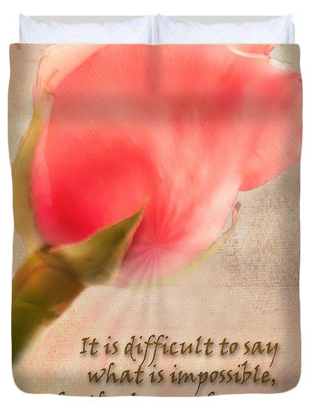 Rose Of Hope Duvet Cover