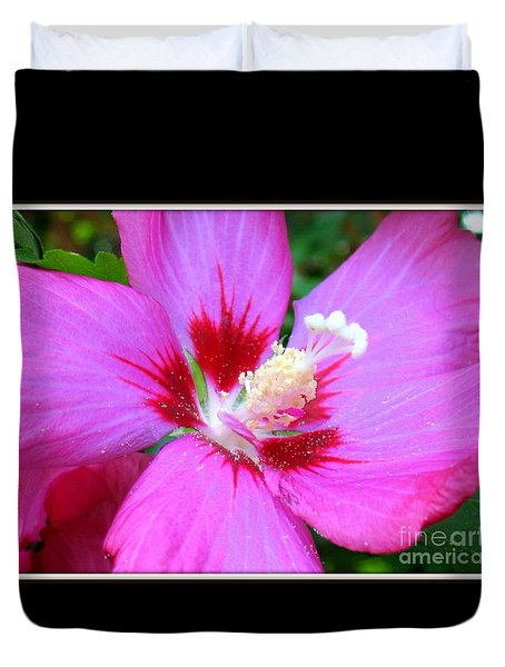 Rose Of Sharon Hibiscus Duvet Cover by Patti Whitten