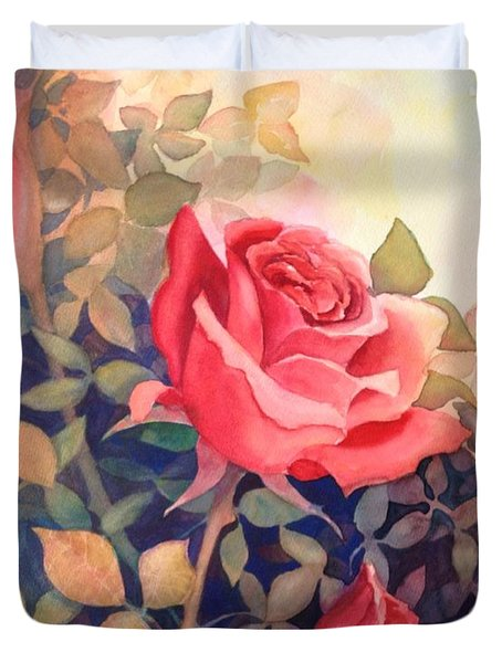 Rose On A Warm Day Duvet Cover
