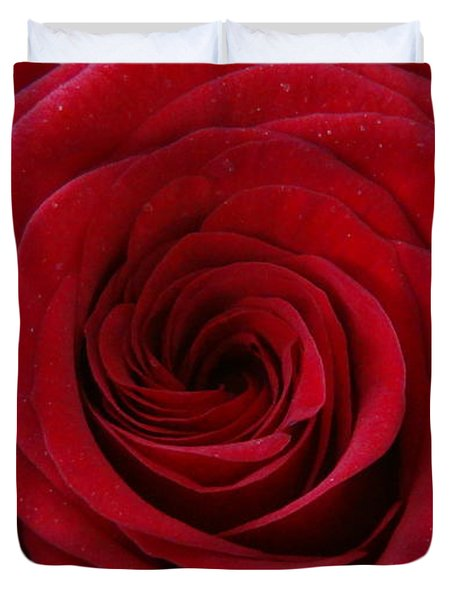 Duvet Cover featuring the photograph Rose Red by Shawn Marlow