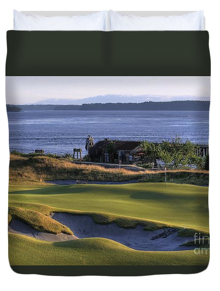 Hole 17 Hdr Duvet Cover by Chris Anderson