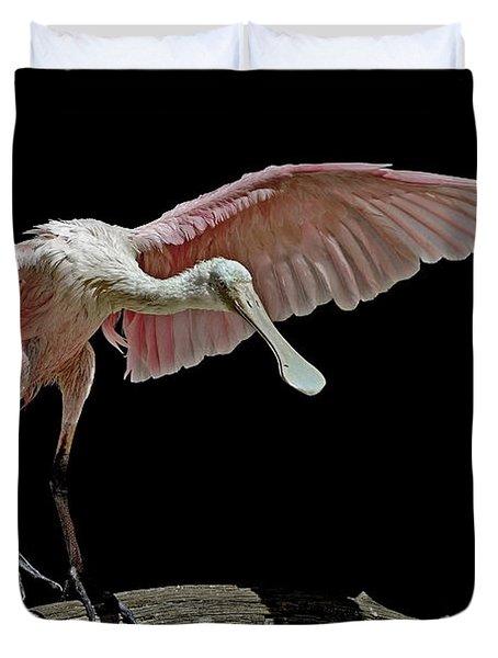 Roseate Spoonbill Duvet Cover by Stuart Harrison