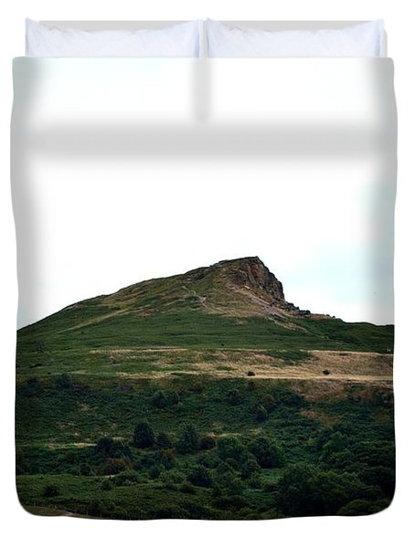 Roseberry Topping Hill Duvet Cover by Scott Lyons