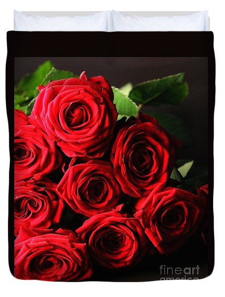 Duvet Cover featuring the photograph Roses 3 by Mariusz Czajkowski