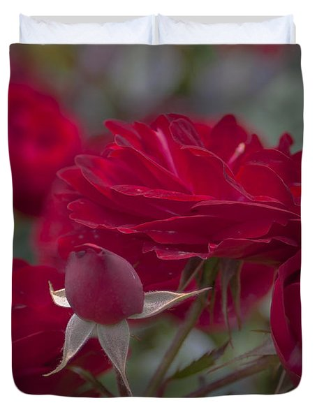 Roses And Roses Duvet Cover