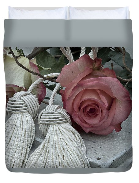 Duvet Cover featuring the photograph Roses And Tassels by Sandra Foster
