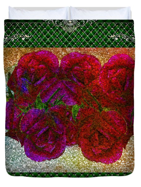 Roses- Featured In Beautiful Roses And Comfortable Art Groups Duvet Cover by EricaMaxine  Price