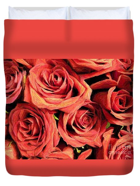 Roses For Your Wall  Duvet Cover by Joseph Baril