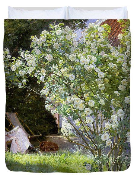 Roses Duvet Cover by Peder Severin Kroyer