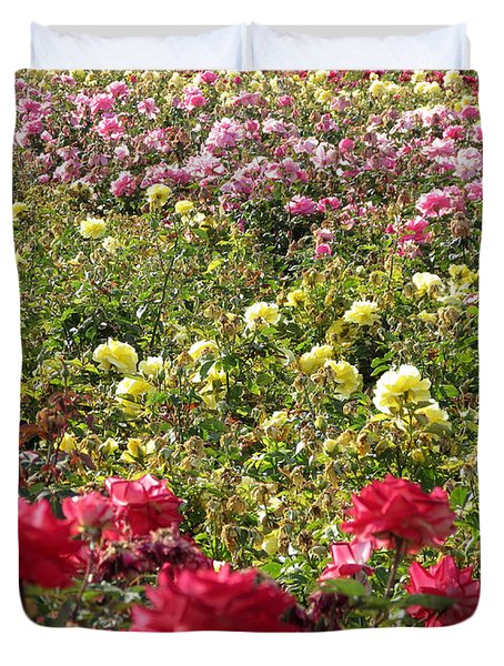 Duvet Cover featuring the photograph Roses Roses Roses by Laurel Powell