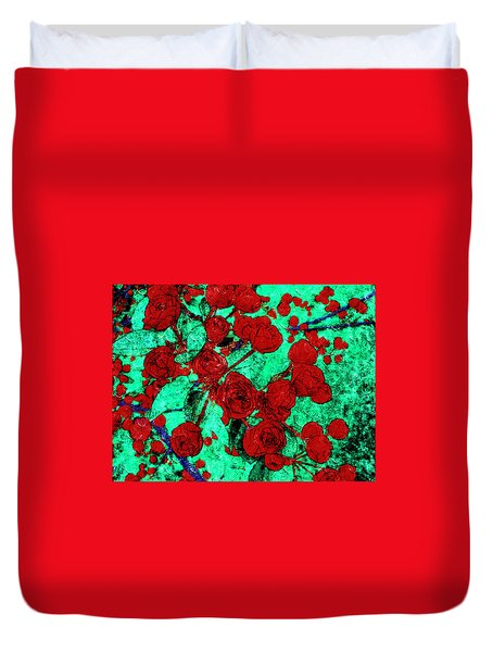The Red Roses Duvet Cover