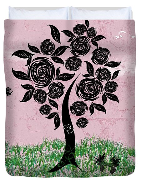 Rosey Posey Duvet Cover