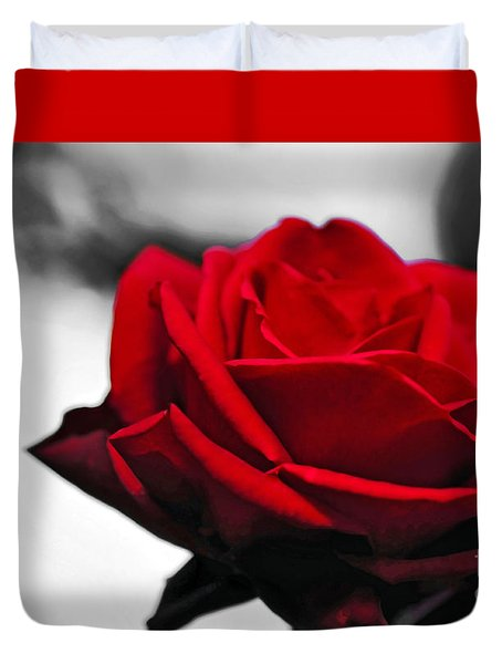 Rosey Red Duvet Cover