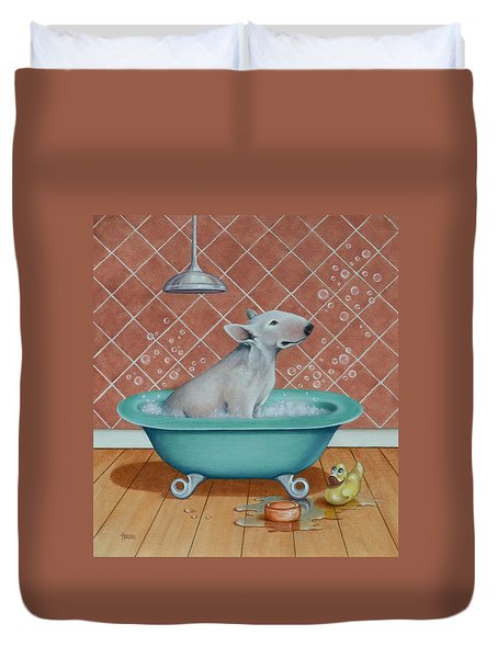 Rosie In The Bliss Bubbles Duvet Cover by Cynthia House