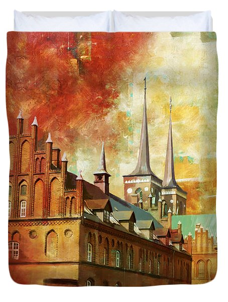 Roskilde Cathedral Duvet Cover by Catf