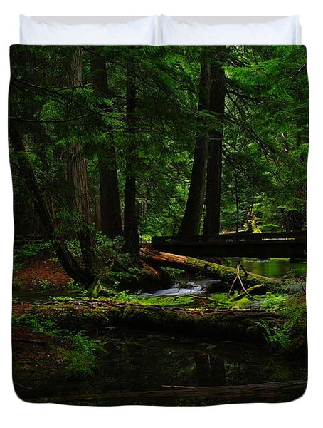 Ross Creek Montana Duvet Cover by Jeff Swan