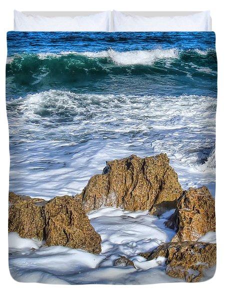 Duvet Cover featuring the photograph Ross Witham Beach Stuart Florida by Olga Hamilton