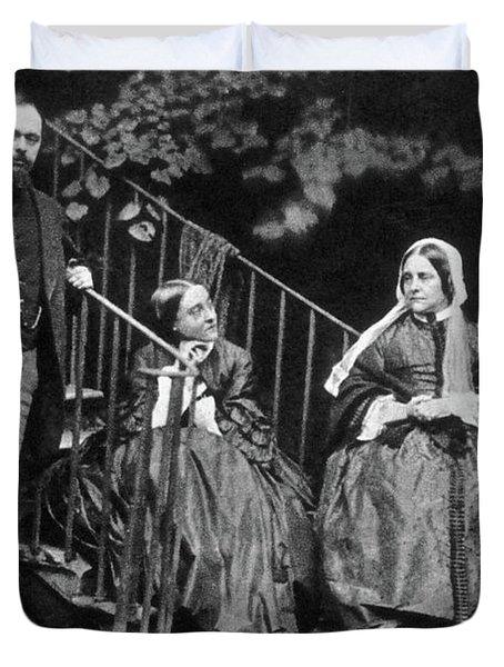 Rossetti Family, 1863 Duvet Cover