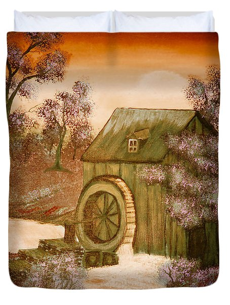 Ross's Watermill Duvet Cover by Barbara Griffin