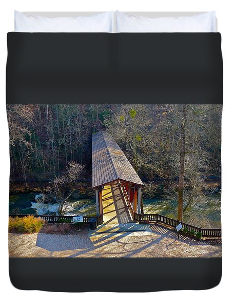 Roswell Covered Bridge Duvet Cover
